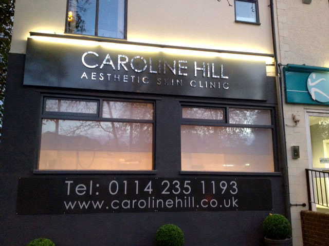Caroline Hill shop signage in Sheffield