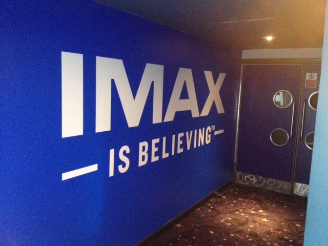IMAX Cineworld wall signage
