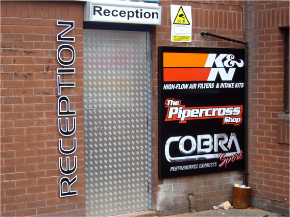 Cobra Sport door signs
