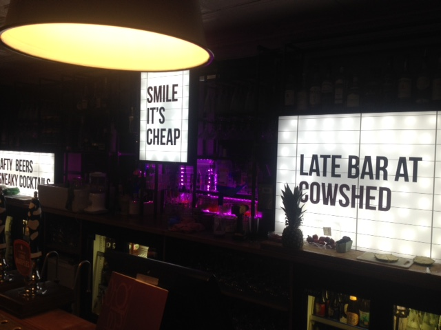 Cowshed 3d restaurant signs Sheffield