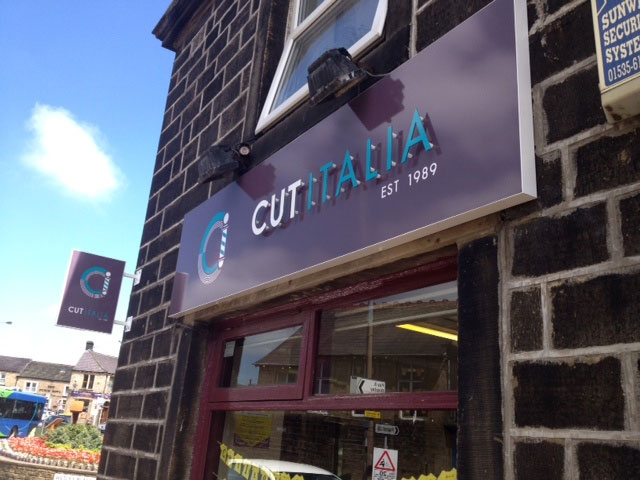 Cut Italia shop signs Sheffield