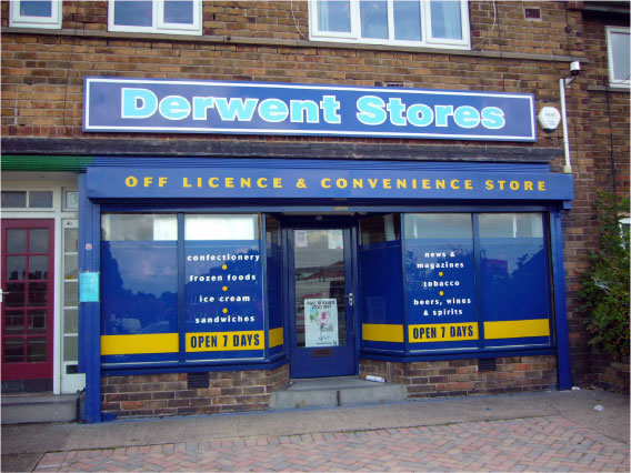 Derwent Stores - Shop signage signs Sheffield