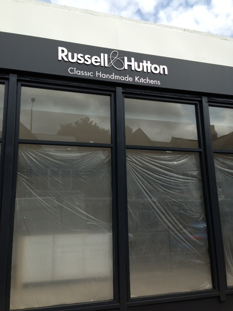 Dibond letters sign for Russel & Hutton