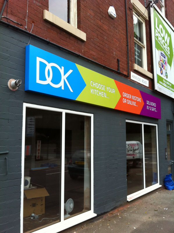 DOK - Kitchen Shop front Sign Sheffield