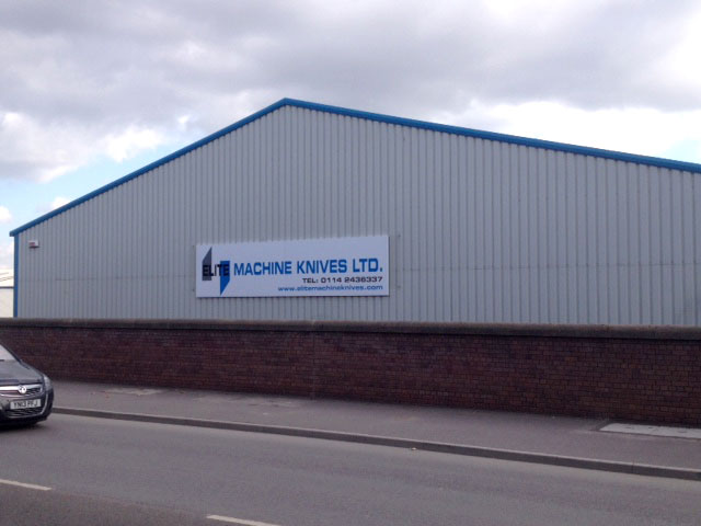 Elite Machine Knives commercial signage Sheffield