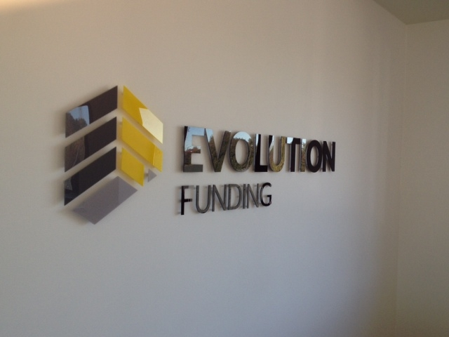 Evolution Funding Perspex Letters Sheffield