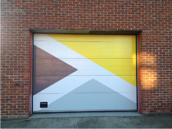 Evolution Funding Garage Door Vinyl Sign Sheffield