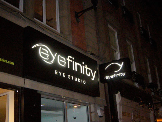 Eyefinity - Opticians outdoor sign, shop sign Sheffield