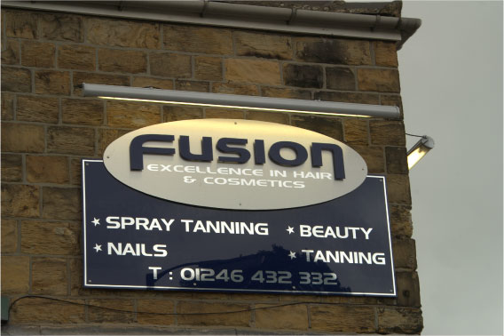Fusion illuminated sign