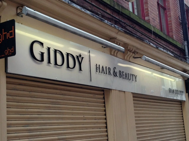 Giddy Hair & Beauty Salon Shop Signs Sheffield