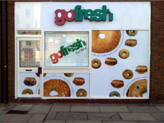 Go Fresh Front - Sandwich Shop Sign Sheffield