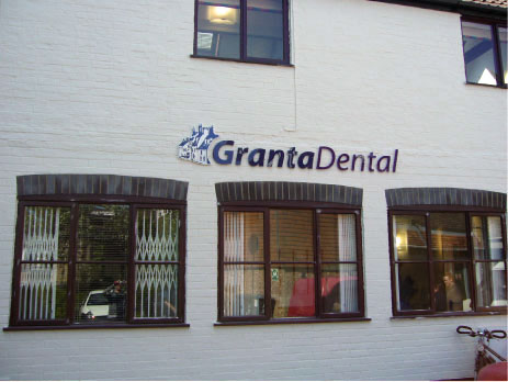 Granta Dental Front - LED Letters signage Sheffield