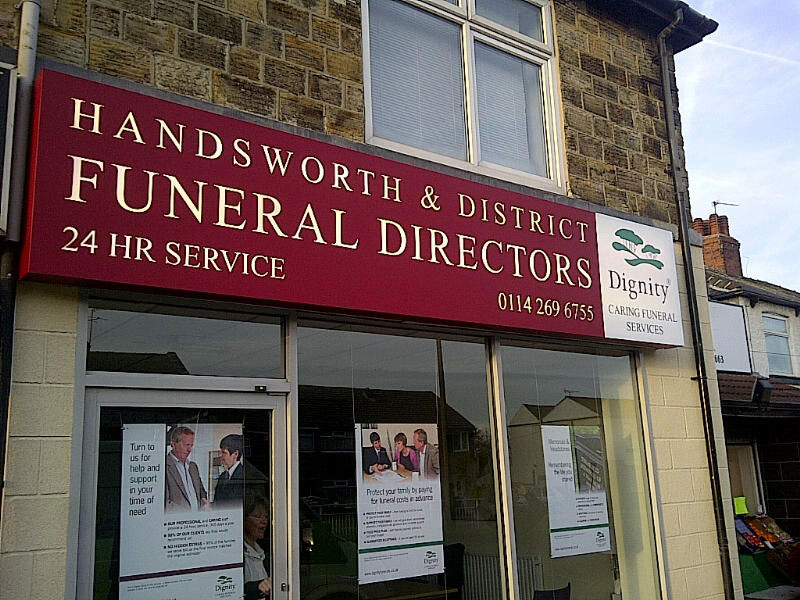 Handsworth Funeral Directors signage - outdoor signs Sheffield