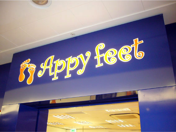 Happy Feet Internal Sign - Store Signage Sheffield