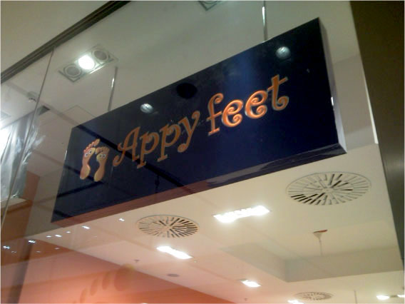 Happy Feet Close Up - Shop front signs Sheffield