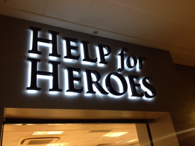 Help for Heroes LED Sign Sheffield