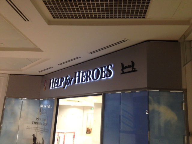 Shop signs Sheffield for Help for Heroes