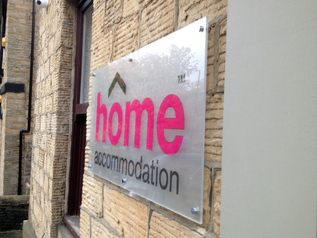 Home outdoor signage Sheffield