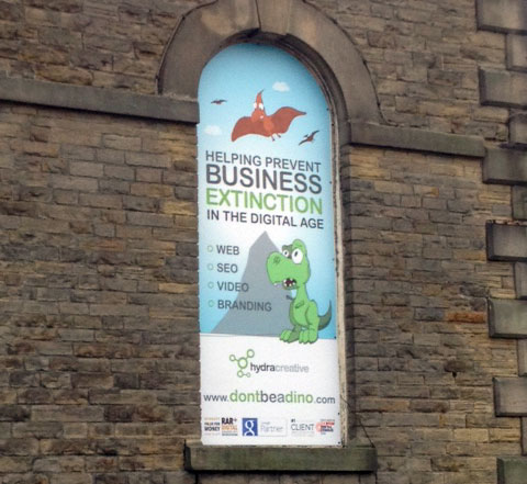 Hydra Creative outdoor signage Sheffield