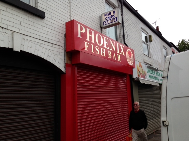 Illuminated Sign Sheffield Phoenix Fish Bar