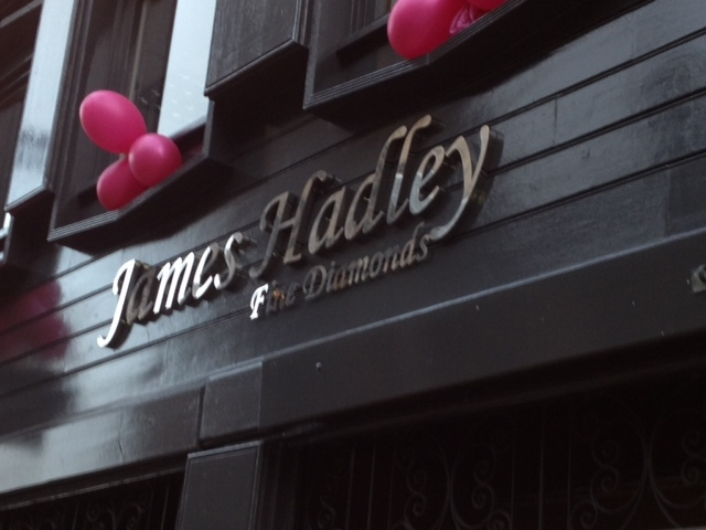 James Hadley Jewellers Sign Sheffield