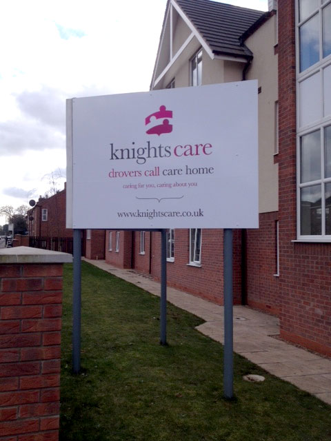Knightscare care home signage Sheffield