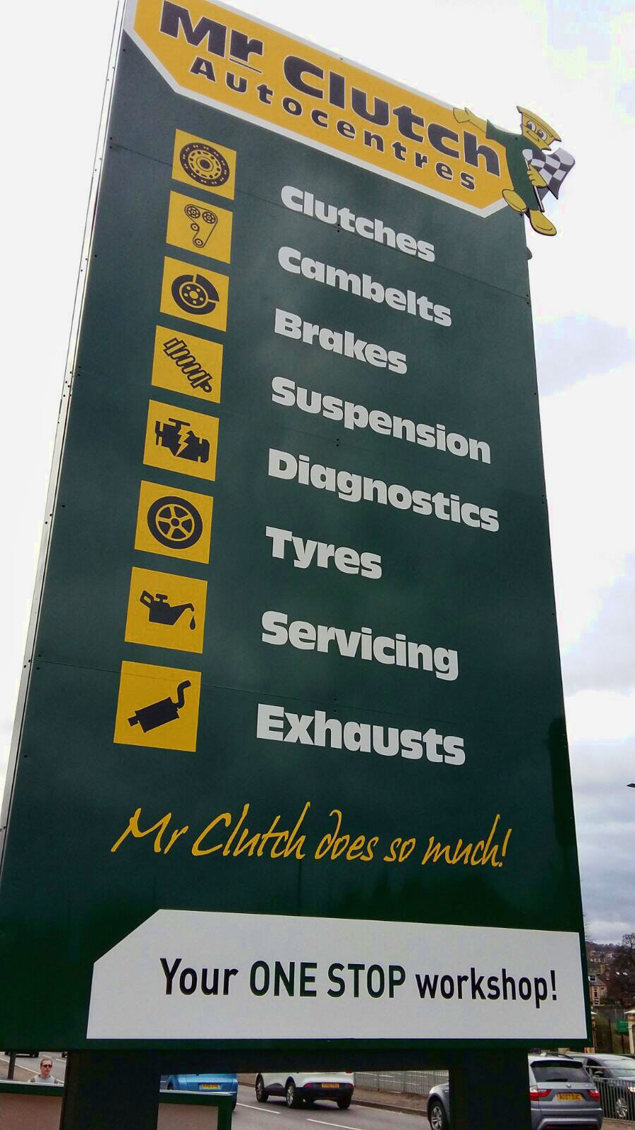 Mr Clutch business signage - 3