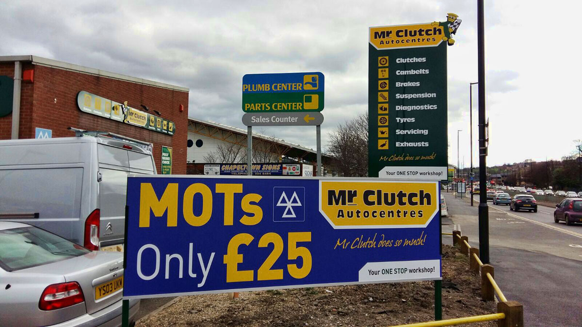 Mr Clutch business signage - 5