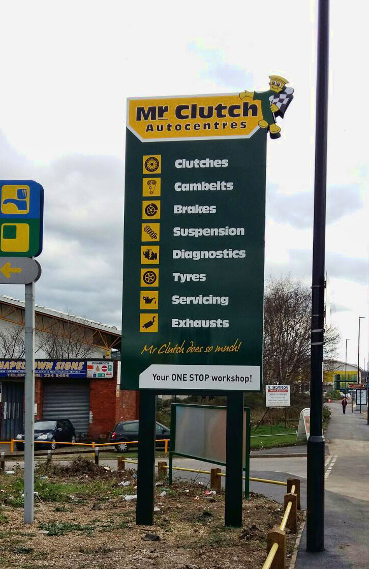 Mr Clutch business signage - 6