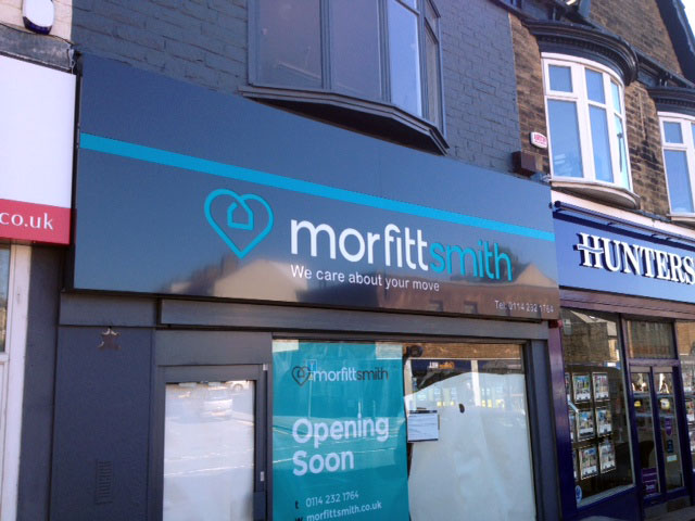 Morfitt Smith shop sign by signmaker in Sheffield