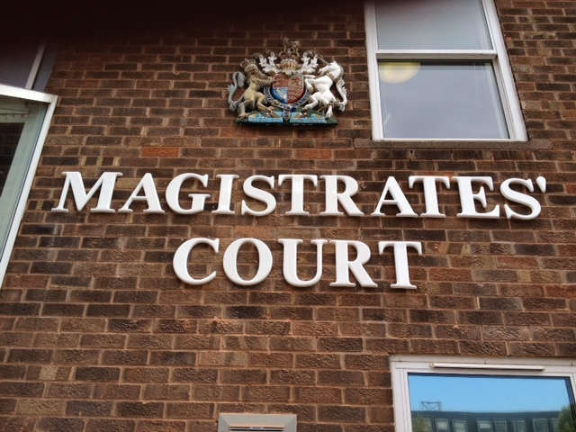 Magistrates' Court moulded sign