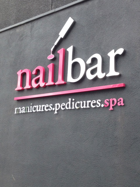 Nail bar shop sign Sheffield