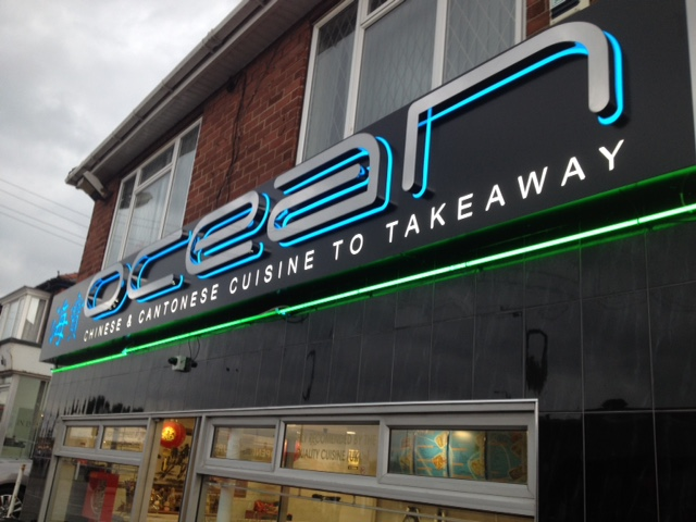 Ocean Chinese 3d signs Sheffield
