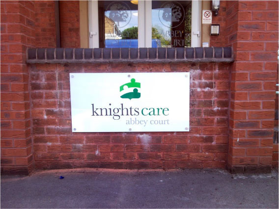 Outdoor Signage Sheffield: Knights Care, Abbey Court - Nursing Home signs