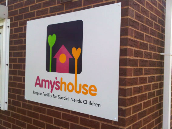 Amy's House - Charity Shop Sign in Sheffield