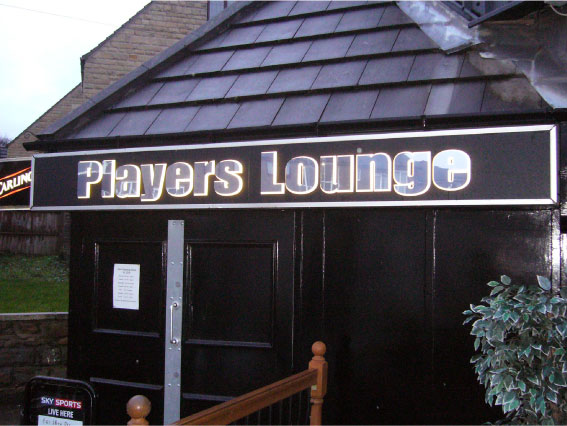 Players Lounge door sign