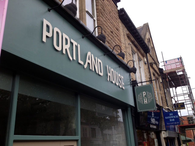 Portland House shop signs Sheffield