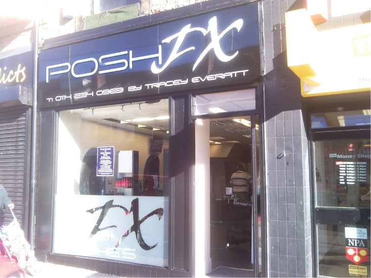 Posh FX shop front sign