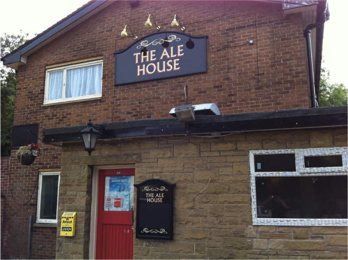 The Ale House pub sign