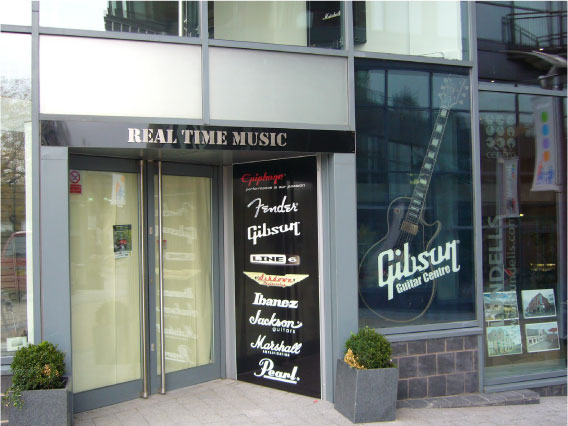 Real Time Music door sign - Music Shop Sign