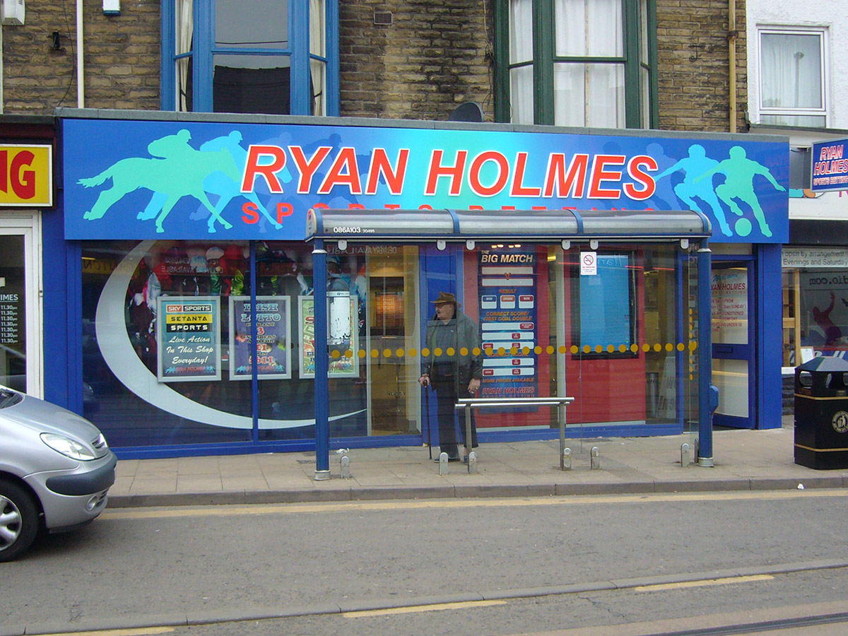 Ryan Holmes shop front - Bookies Sign