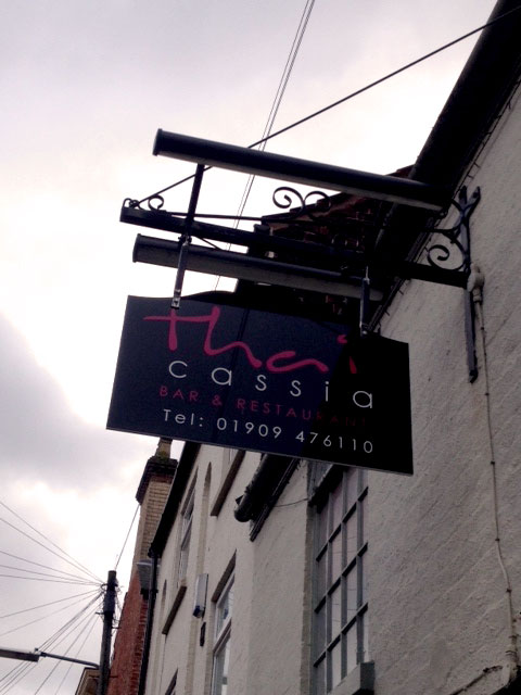 Thai Cassia Restaurant Sign Sheffield
