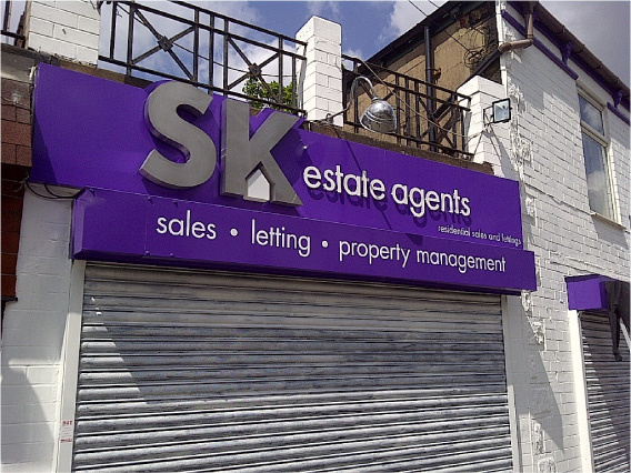 SK Estate Agents Sign