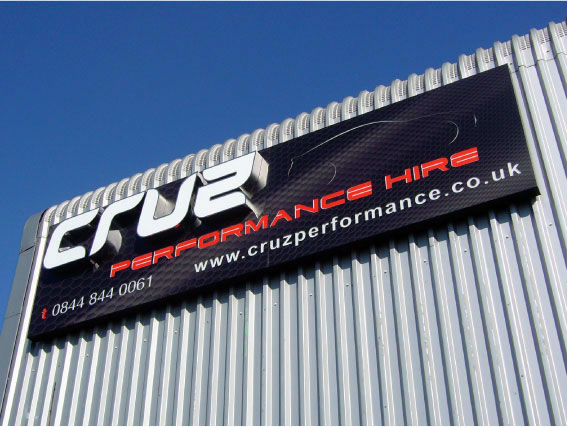 Cruz shop front signs - Stainless steel facelit letters signs Sheffield