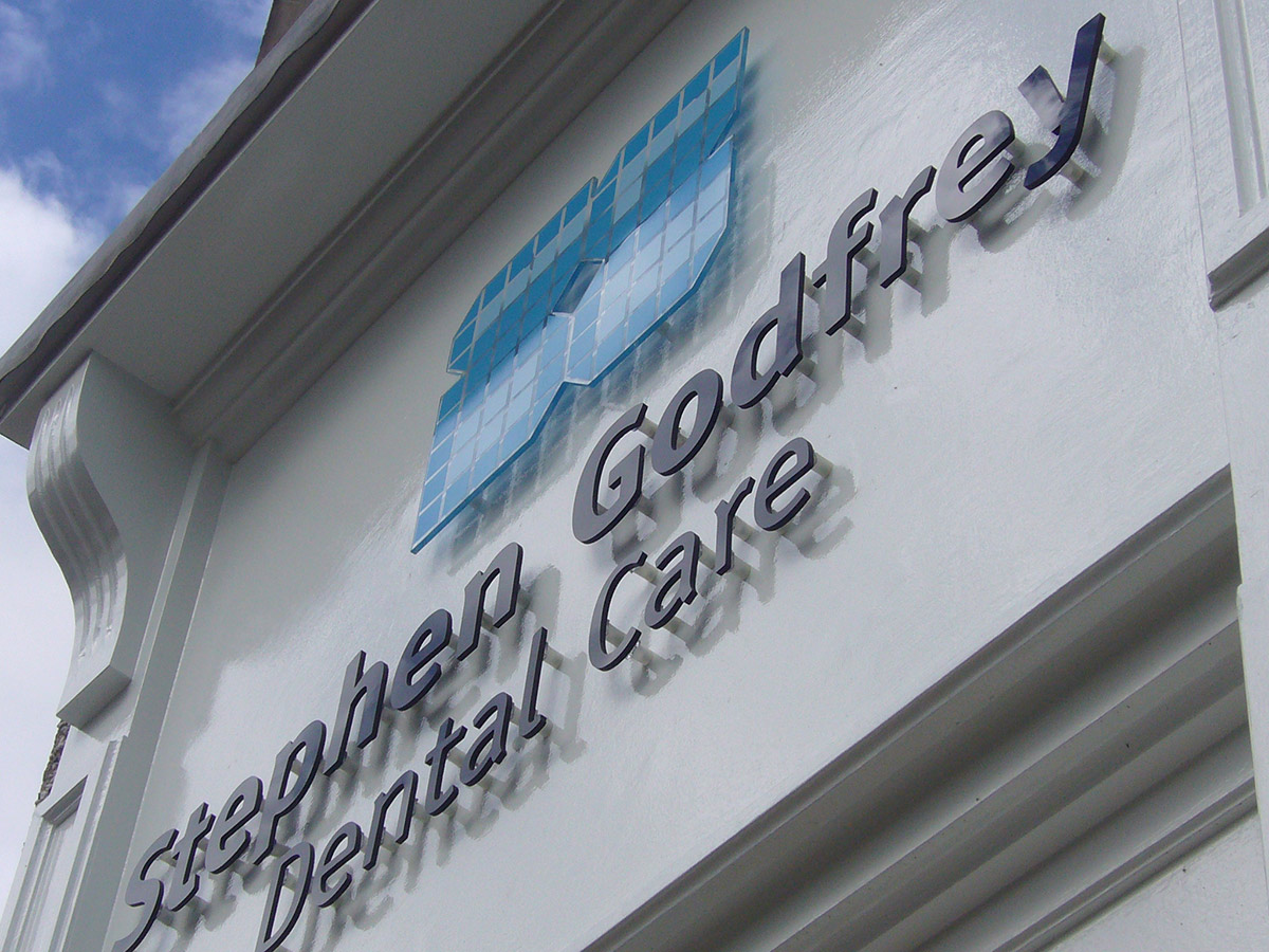 Stephen Godfrey Dental Care front Sign