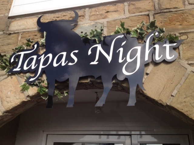 Tapas Night Shaped Sign