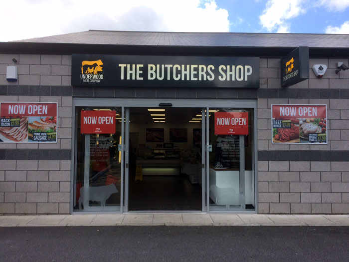The Butchers Shop, shop sign Sheffield