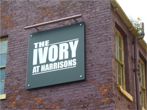 The Ivory illuminated sign