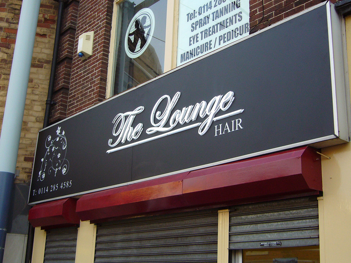 The Lounge - Lightbox Shop Front Sign