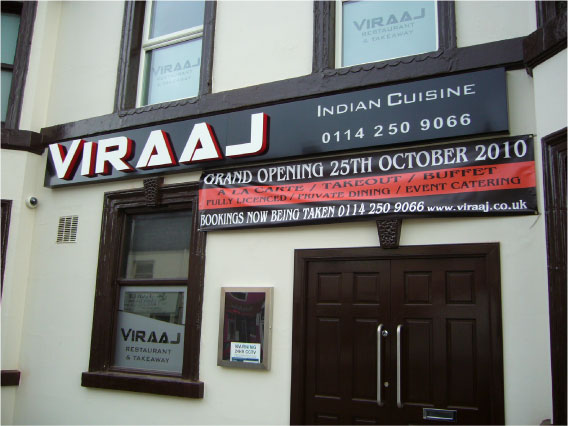 Viraaj - Restaurant Signs